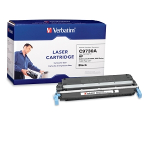 Verbatim HP C9730A Compatible Black Toner (5500, 5550) - Black - Laser - 13000 Page - 1 / Pack