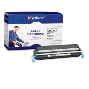 Verbatim HP C9732A Compatible Yellow Toner (5500, 5550) - Yellow - Laser - 12000 Page - 1 / Pack