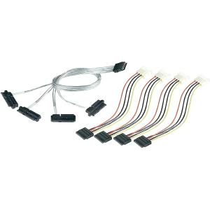 Adaptec Serial Attached SCSI (Controller-based) Fan-out Cable - SFF-8087 - SFF-8482 - 3.28ft