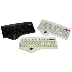 Keytronic Trackball-P1 Keyboard - PS/2 - 104 Keys - Beige