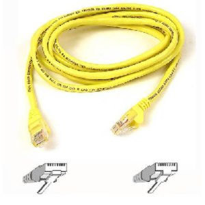 Belkin CAT5e Horizontal UTP Cable - 1000ft - Yellow
