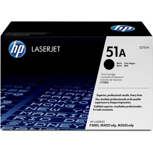 HP 51A Black Toner Cartridge - Black - Laser - 6500 Page - 1 Each