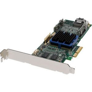 Adaptec 3405 4 Port SAS RAID Controller - 128MB    DDR2 - PCI Express x4 - Up to 300MBps per Port - 1 x  SFF-8087  SAS 300 - Serial Attached SCSI Internal