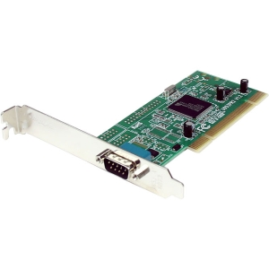 StarTech.com 1 Port PCI RS232 Serial Adapter Card w/ 16950 UART - Dual Voltage - 1 x 9-pin DB-9 Male RS-232 Serial