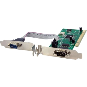 StarTech.com 2 Port PCI RS232 Serial Adapter Card w/ 16950 UART - Dual Voltage - 2 x 9-pin DB-9 Male RS-232 Serial