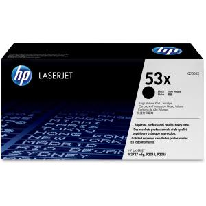 HP 53X Black Toner Cartridge - Black - Laser - 7000 Page - 1 Each