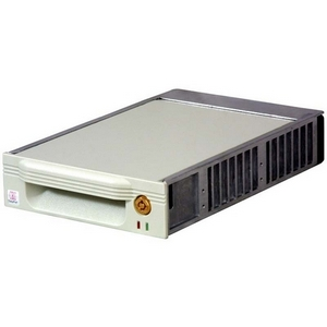 CRU DataPort V Plus Removable Drive Enclosure - 1 x 3.5&quot; - 1/3H Internal - Internal - Black