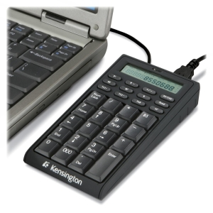 Kensington 72274 Notebook Keypad/Calculator with USB Hub - PC & MAC Compatible - USB - 19 Key - Mac, PC - USB Hub, Calculator Built-in