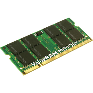 Kingston RAM Module - 4GB (2 x 2GB) - DDR2 SDRAM - 667MHz DDR2-667/PC2-5300 - Non-ECC - Unbuffered - 200-pin SoDIMM