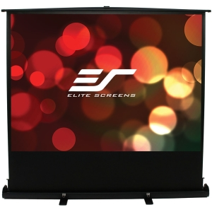 "Elite Screens ezCinema Plus Portable Floor Pull Up Projection Screen - 60"" x 80"" - Matte White - 100"" Diagonal"