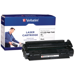Verbatim HP C7115X Compatible HY Toner Cartridge - Black - Laser - 3500 Page - 1 / Pack
