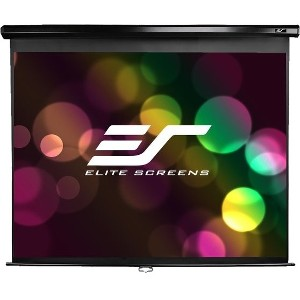 "Elite Screens Manual Pull Down Projection Screen - 50"" x 50"" - Matte White - 71"" Diagonal"