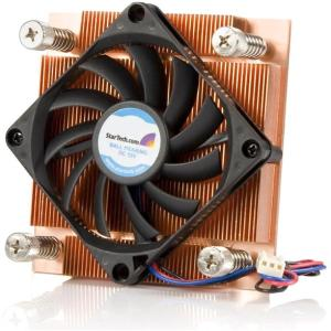 StarTech.com 1U Low Profile 70mm Socket 775 CPU Cooler Fan w/ Heatsink &amp; TX3 - 1 x 70mm - 4500rpm 1 x Dual Ball Bearing