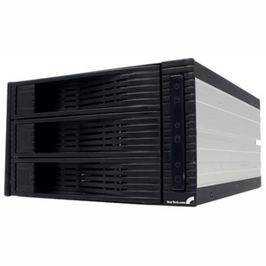 StarTech.com 3 Drive 3.5in Trayless Hot Swap SATA Mobile Rack Backplane - 3 x 3.5 - 1/3H Hot-swappable - Internal - Black