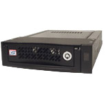 "CRU Data Express 110 ATA-133 Removable HDD Enclosure - 1 x 3.5"" - 1/3H Internal Hot-swappable - Internal - Black"