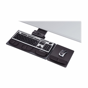 "Fellowes Professional Series Executive Keyboard Tray - 5.8"" x 28.2"" x 21.3"" - Black"