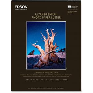 "Epson Ultra Premium Photo Paper - C - 17"" x 22"" - Luster - 25 Sheet"