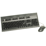 Keytronic E03601U2M Keyboard and Mouse - Keyboard - Cable - 104 - Mouse - Optical