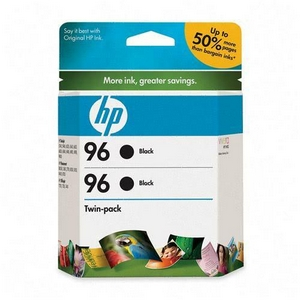 HP 96 Twinpack Black Ink Cartridge - Black - Inkjet - 860 Page - 2 / Pack
