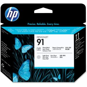 HP 91 Photo Black and Light Grey Printhead - Photo Black, Light Gray - Inkjet - 1 Each