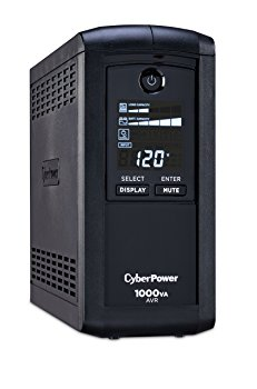 CyberPower Intelligent LCD CP1000AVRLCD 1000VA Tower UPS - 1000VA/600W - 1 Minute Full Load - 4 x NEMA 5-15R - Surge-protected, 5 x NEMA 5-15R - Battery/Surge-protected