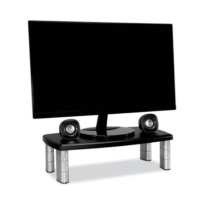 3M MS90B Adjustable Extra Wide Monitor Stand - Up to 40.00 lb - Up to 17&quot; Monitor - Black