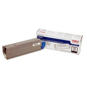 Oki Black Toner Cartridge - Black - Laser - 6000 Page - 1 Each