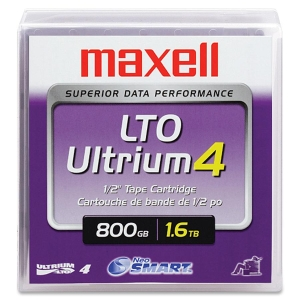 Maxell LTO Ultrium 4 Tape Cartridge - LTO-4 - 800GB (Native)/1.60TB (Compressed)