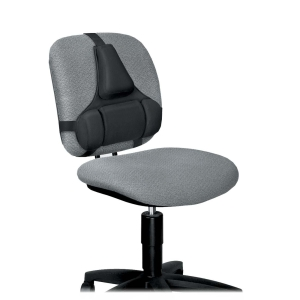 Fellowes Professional Series Back Support with Microban Protection - Adjustable - Strap Mount - 15.0&quot; x 2.0&quot; x 14.5&quot; - Black
