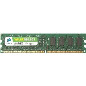 Corsair Value Select 2GB DDR2 SDRAM Memory Module - 2GB (2 x 1GB) - 667MHz DDR2-667/PC2-5300 - DDR2 SDRAM - 240-pin