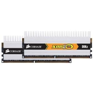 Corsair XMS2 DHX 4GB DDR2 SDRAM Memory Module - 4GB (2 x 2GB) - 800MHz DDR2-800/PC2-6400 - Non-ECC - DDR2 SDRAM - 240-pin