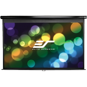"Elite Screens Manual Pull Down Projection Screen - 60"" x 60"" - Matte White - 85"" Diagonal"