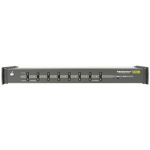 IOGEAR MiniView Ultra GCS1758KIT 8-Port KVM Switch - 8 x 1 - 8 x HD-15 Keyboard/Mouse/Video - 1U - Rack-mountable