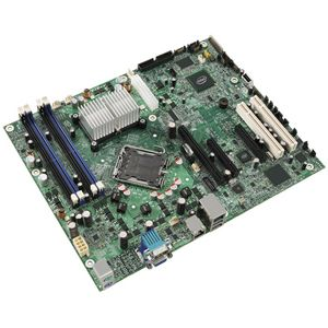 Intel S3210SHLC Server Motherboard - Intel Chipset - Socket T LGA-775 - ATX - 1 x Processor Support - 8 GB DDR2 SDRAM Maximum RAM - Floppy Controller, Serial ATA/300 RAID Supported Controller - On-board Video Chipset - 1 x PCIe x16 Slot