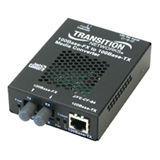 Transition Networks Just Convert-IT J/FE-CF-04(SC) Fast Ethernet Media Converter - 1 x RJ-45 , 1 x SC - 10/100Base-TX, 100Base-FX - External, Wall-mountable, Rack-mountable