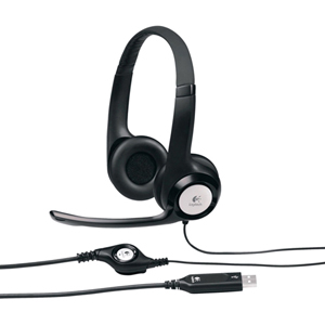 Logitech USB Headset H390 - Stereo - USB - Wired - 20 Hz - 20 kHz - Over-the-head - Binaural - Circumaural - 8 ft Cable - Noise Cancelling Microphone