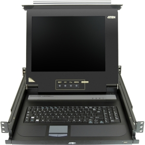 Aten 17&quot; Single-Rail LCD Integrated Console - 1 Computer(s) - 17&quot; Active Matrix TFT LCD - 1 x SPHD-15 Keyboard/Mouse/Video
