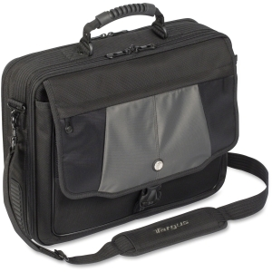 Targus BlackTop CPT401DUS Notebook Case - Clamshell - Shoulder Strap - 17&quot; Screen Support - Polyester - Black, Gray