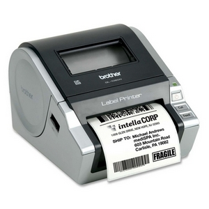 Brother QL-1060N Network Thermal Label Printer - Monochrome - 110 mm/s Mono - 300 dpi - Serial, USB