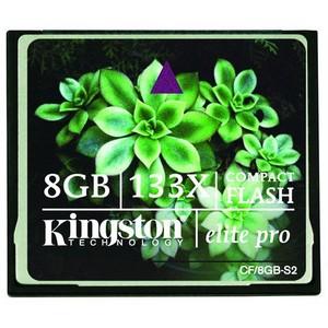 Kingston 8GB Elite Pro CompactFlash Card - 133x