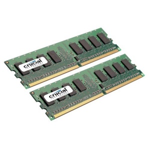 Crucial 4GB DDR2 SDRAM Memory Module - 4GB (2 x 2GB) - 667MHz DDR2-667/PC2-5300 - Non-ECC - DDR2 SDRAM - 240-pin DIMM