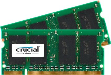 Crucial 4GB DDR2 SDRAM Memory Module - 4GB (2 x 2GB) - 667MHz DDR2-667/PC2-5300 - Non-ECC - DDR2 SDRAM - 200-pin