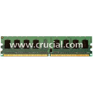 Crucial 2GB DDR2 SDRAM Memory Module - 2GB (2 x 1GB) - 800MHz DDR2-800/PC2-6400 - Non-ECC - DDR2 SDRAM - 240-pin DIMM