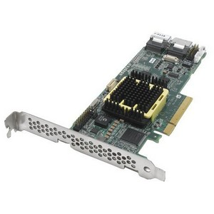 Adaptec 5805 8 Port Serial ATA/SAS RAID Controller - 512MB DDR2 - PCI Express x8 - Up to 300MBps Per Port - 2 x SFF-8087 SAS 300 - Serial Attached SCSI Internal