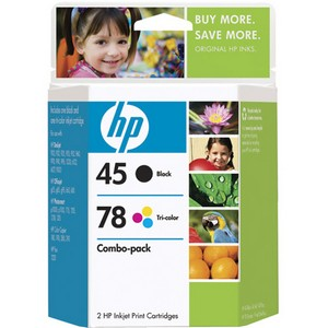 HP 45A / 78D Black and Tri-color Ink Cartridges - Black, Color - Inkjet - 830 Page Black, 450 Page Color - Retail