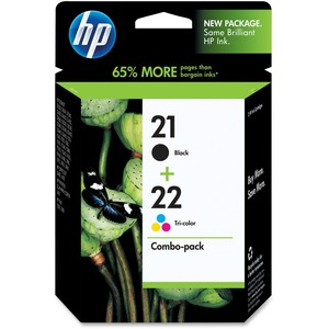 HP 21/22 Black and Tri-color Ink Cartridge - Black, Color - Inkjet - 190, 165
