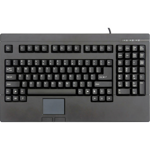 Solidtek USB Full Size POS Keyboard with Touchpad Mouse KB-730BU - USB - TouchPad - PC - QWERTY
