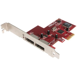 StarTech.com 2 Port PCI Express eSATA Controller Adapter Card - 2 x 7-pin Serial ATA/300 External SATA
