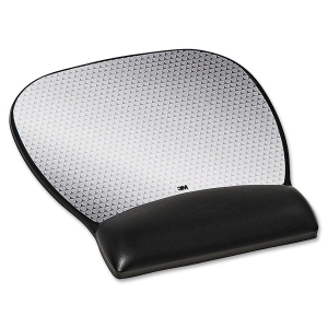 "3M Gel Mouse Pad - 0.8"" x 8.8"" x 9.8"" - Black"