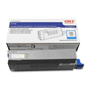 Oki Cyan Toner Cartridge - Cyan - LED - 11500 Page - 1 Each